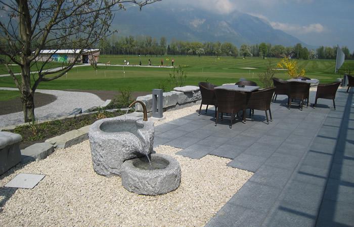 Feng Shui Terrasse Golfrestaurant Gams